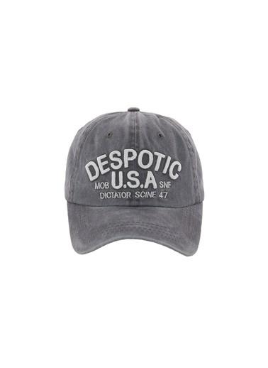 Laslusa Despotic USA Beyzbol Cap Şapka Gri